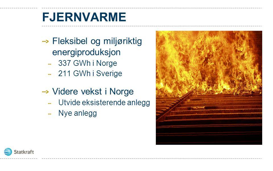FJERNVARME Fleksibel og miljøriktig energiproduksjon