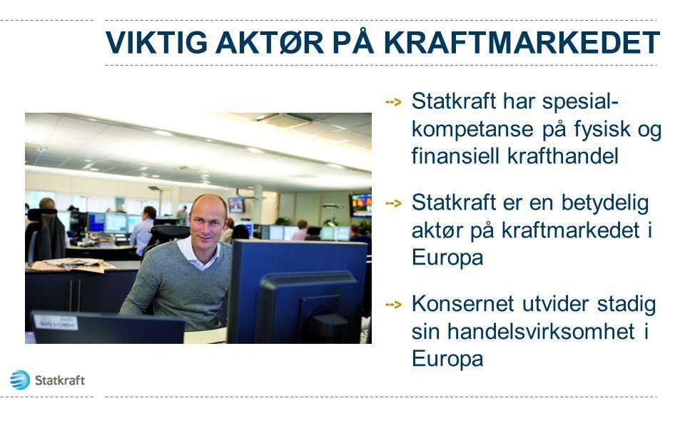 VIKTIG AKTØR PÅ KRAFTMARKEDET