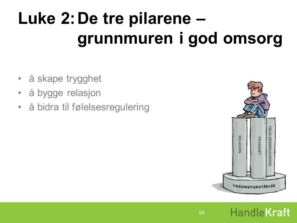 Luke 2: De tre pilarene – grunnmuren i god omsorg
