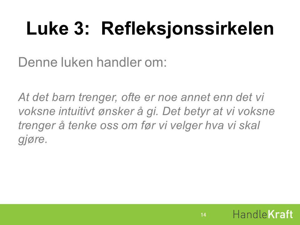 Luke 3: Refleksjonssirkelen