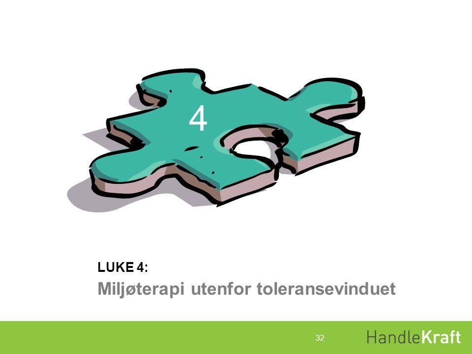 4 Miljøterapi utenfor toleransevinduet LUKE 4: