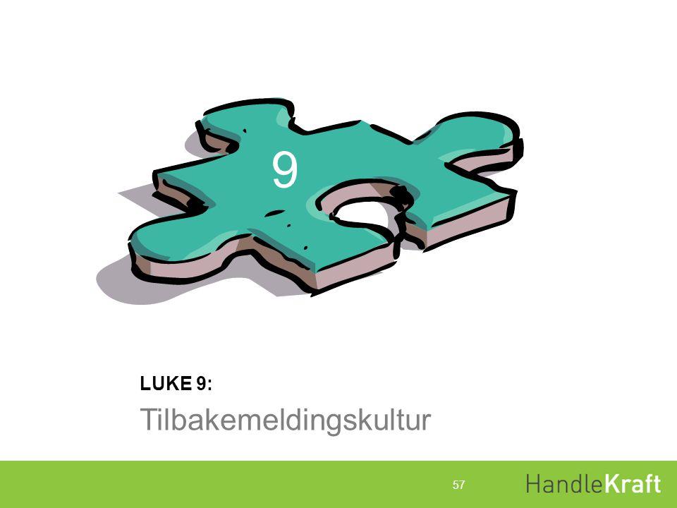 9 LUKE 9: Tilbakemeldingskultur