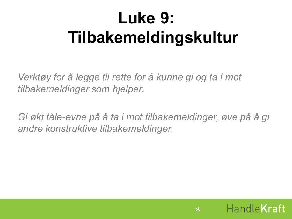 Luke 9: Tilbakemeldingskultur