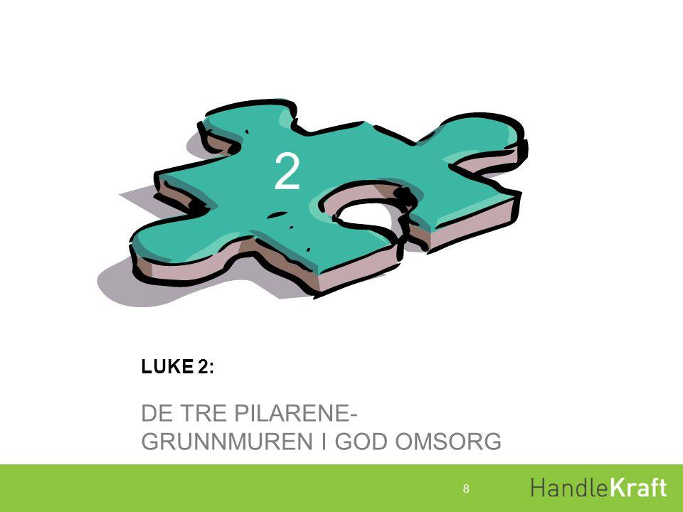 2 LUKE 2: DE TRE PILARENE- GRUNNMUREN I GOD OMSORG