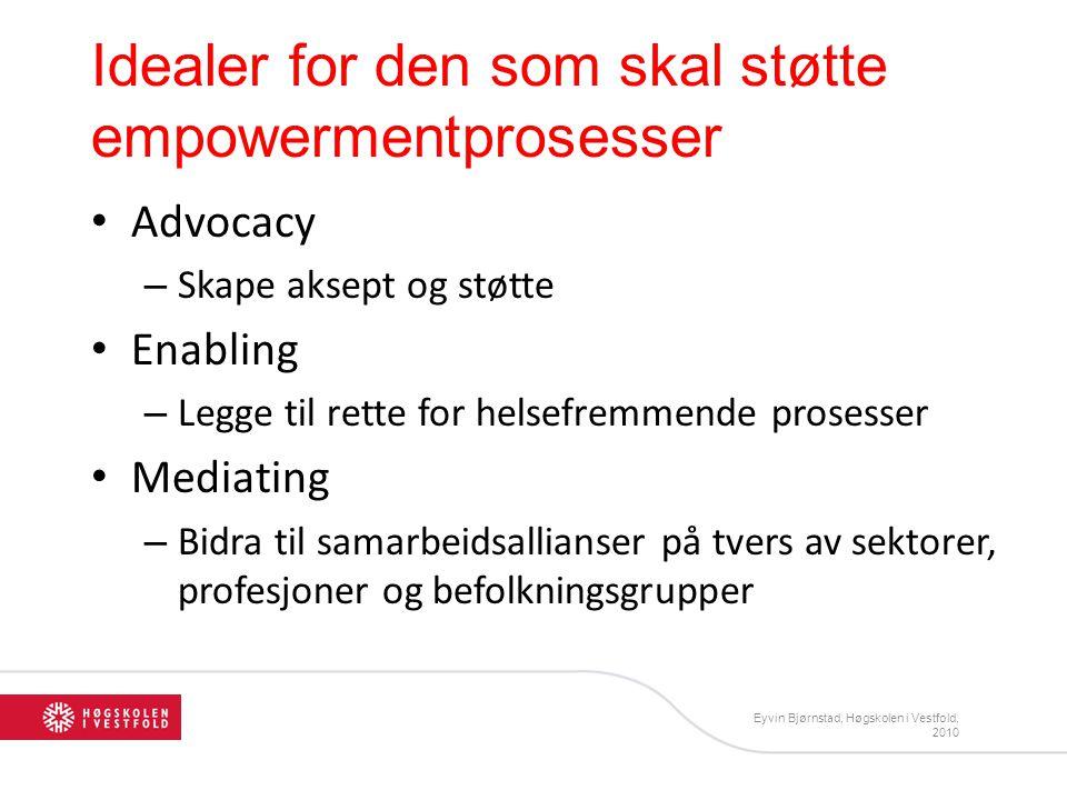 Idealer for den som skal støtte empowermentprosesser