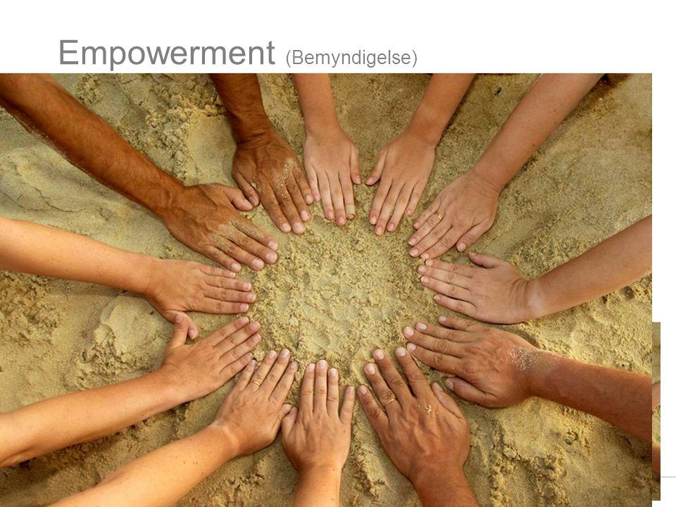 Empowerment (Bemyndigelse) Hva innebærer dette begrepet