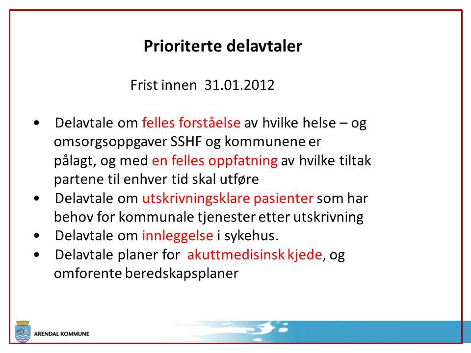 Prioriterte delavtaler