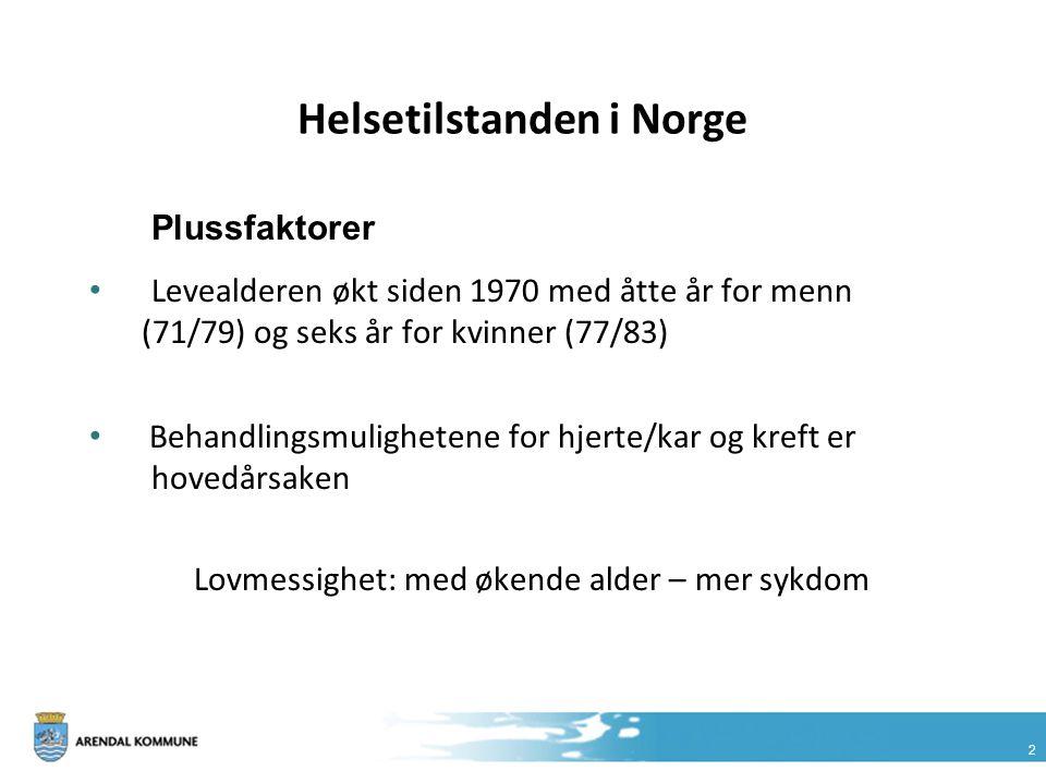 Helsetilstanden i Norge