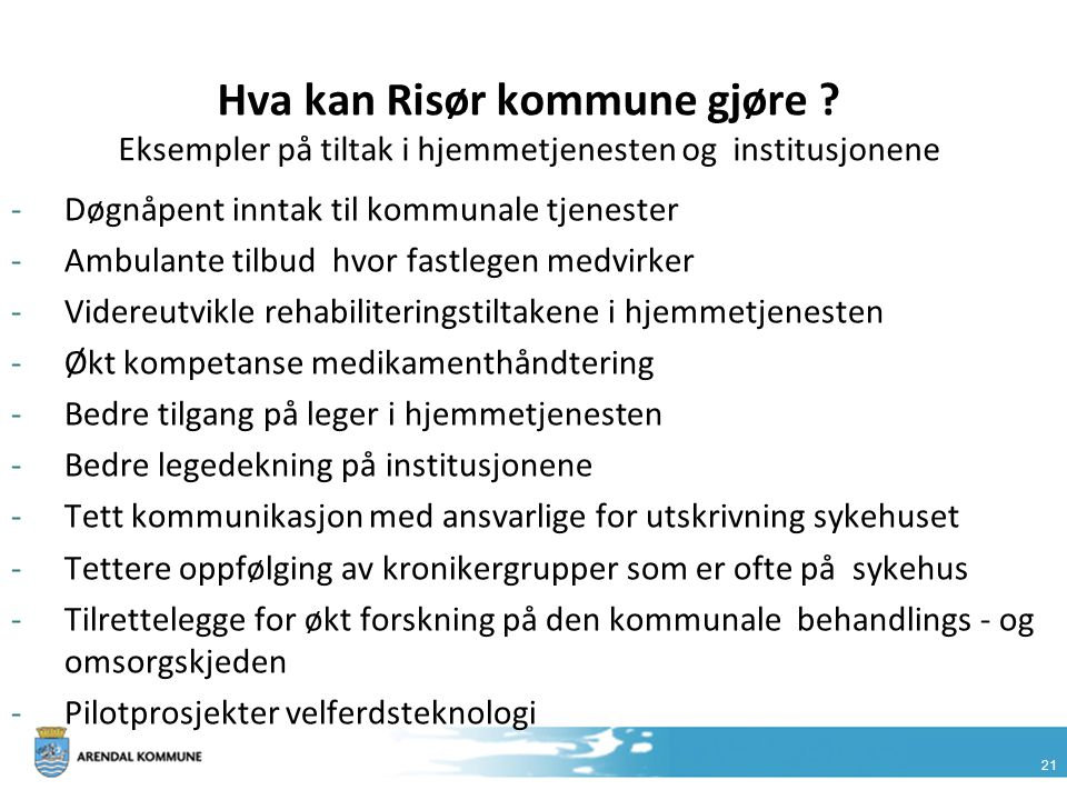 Hva kan Risør kommune gjøre