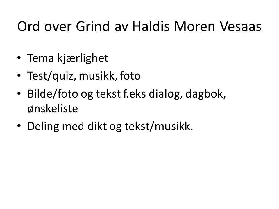 Ord over Grind av Haldis Moren Vesaas