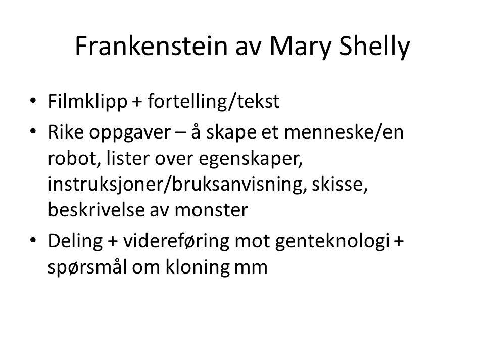 Frankenstein av Mary Shelly