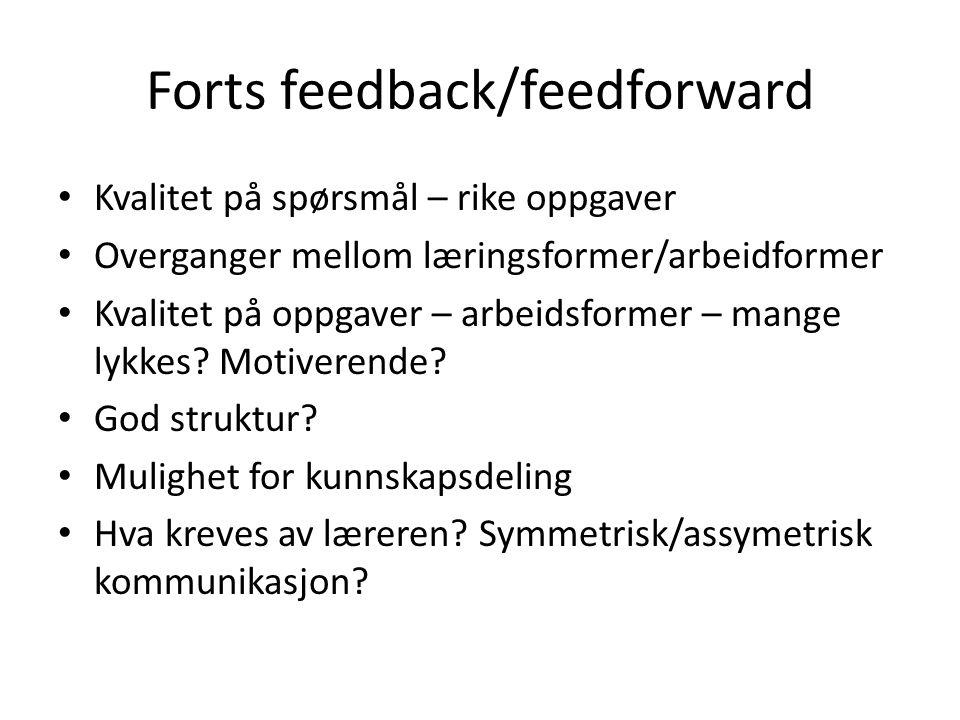 Forts feedback/feedforward