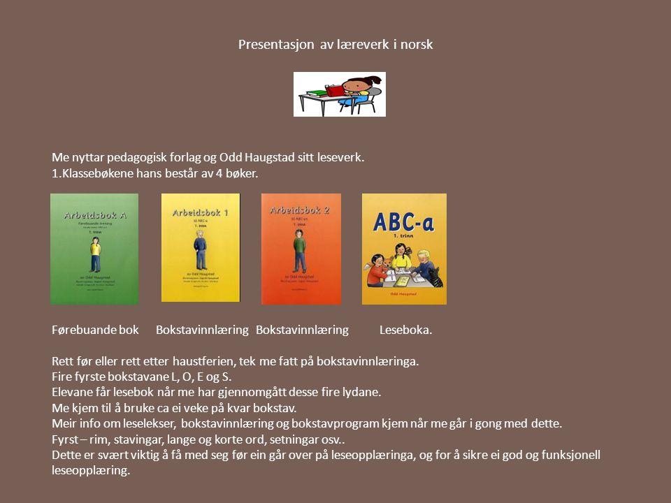 Presentasjon av læreverk i norsk