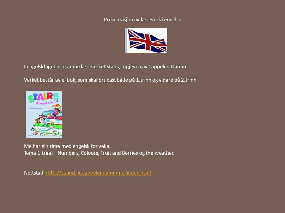 Presentasjon av læreverk i engelsk