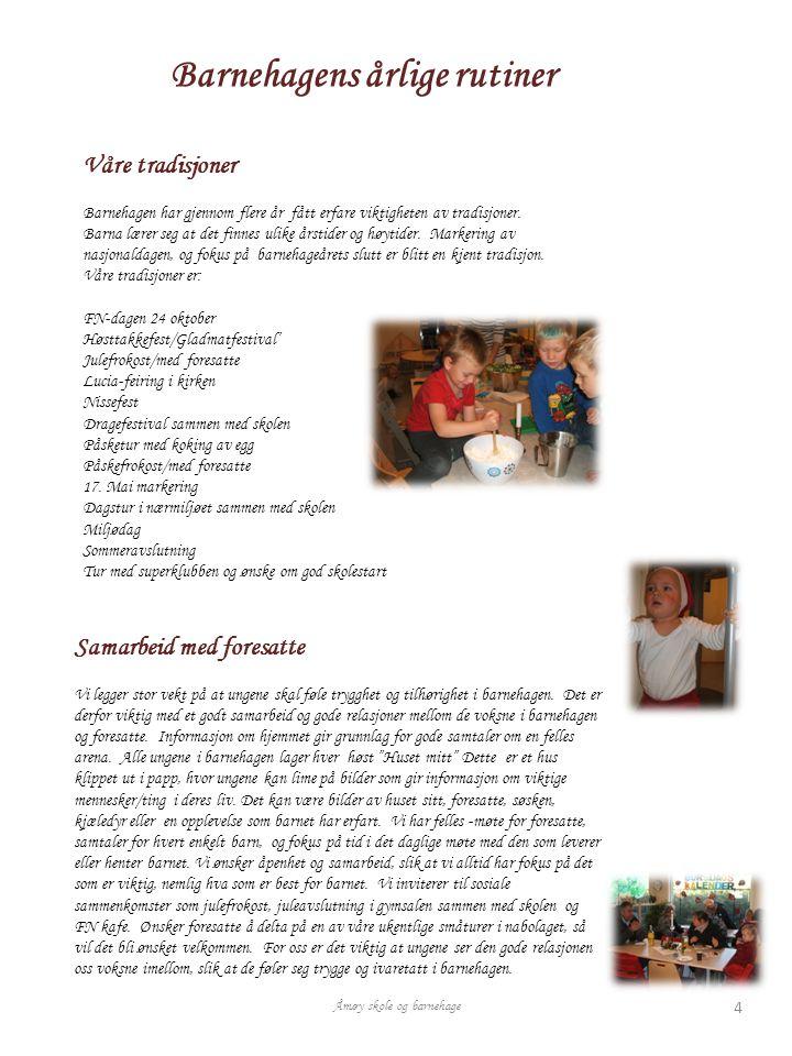 Barnehagens årlige rutiner