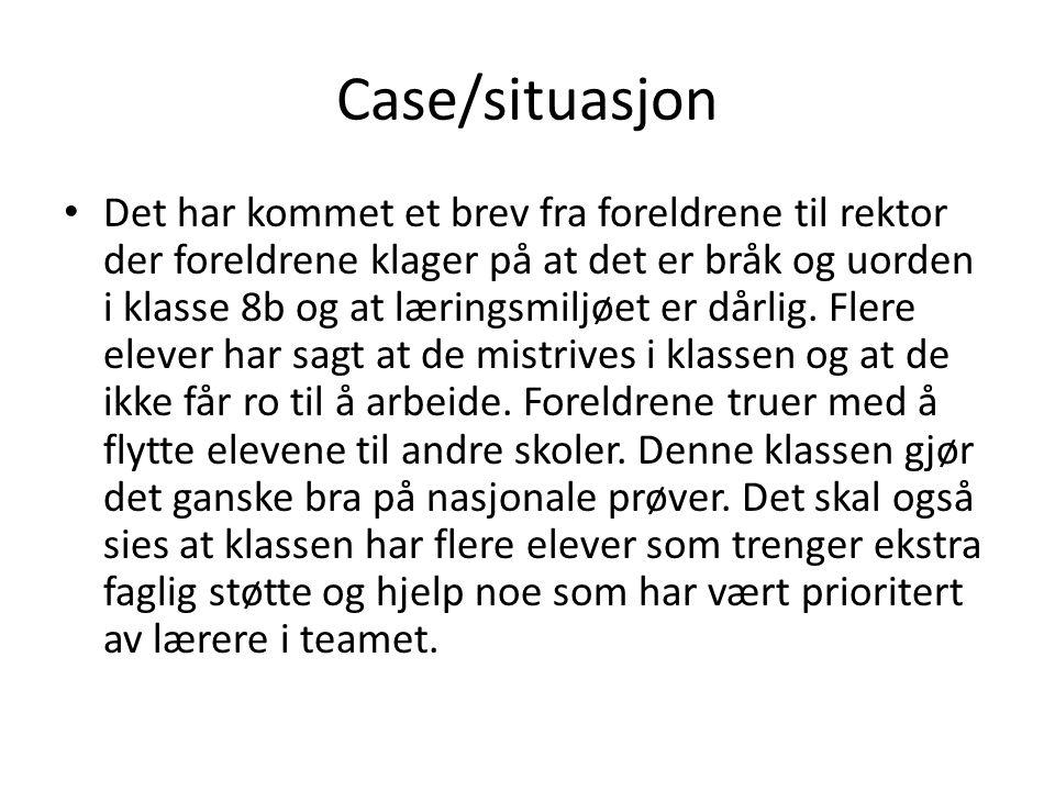 Case/situasjon