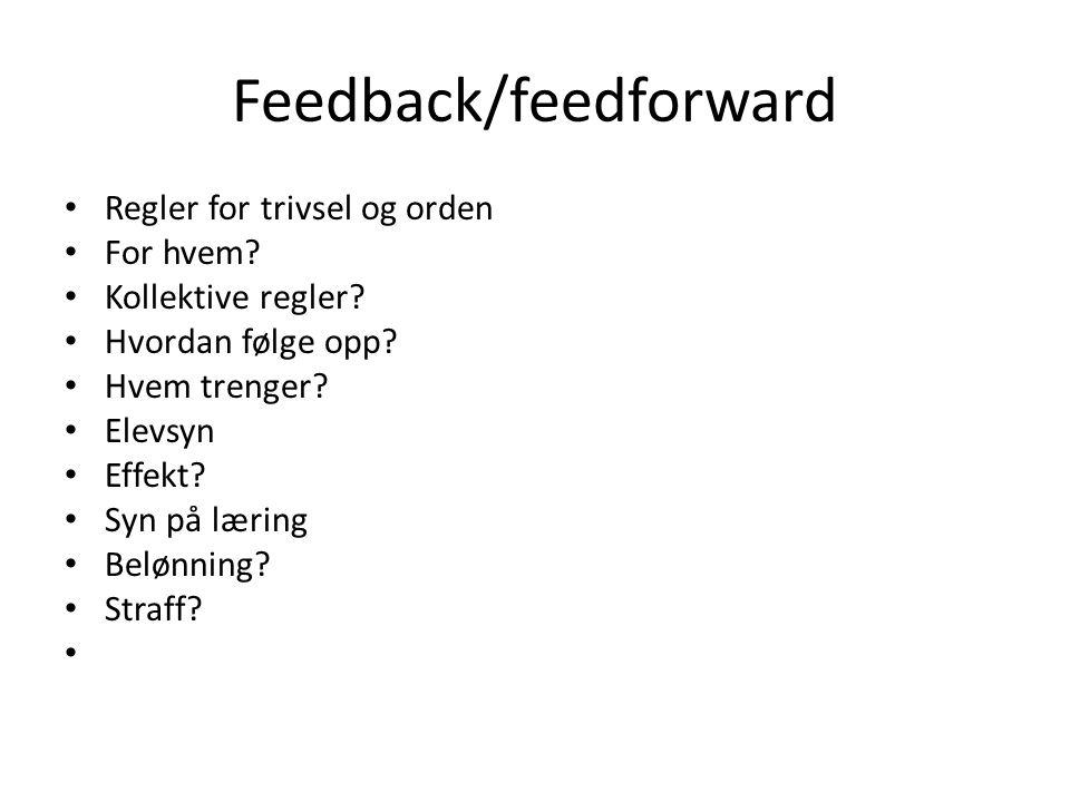 Feedback/feedforward