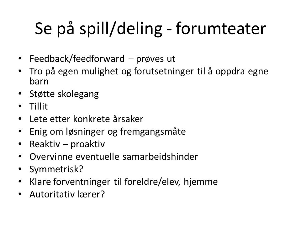 Se på spill/deling - forumteater