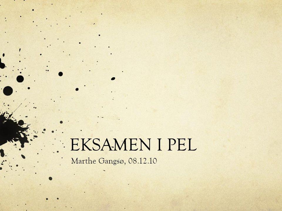 EKSAMEN I PEL Marthe Gangsø, 08.12.10