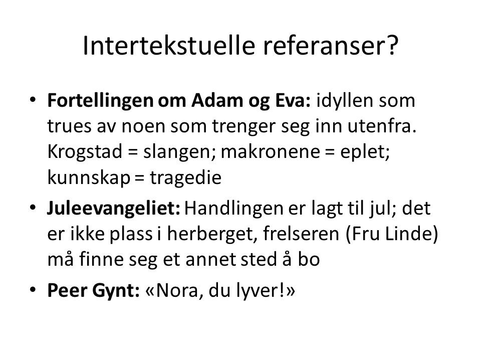 Intertekstuelle referanser