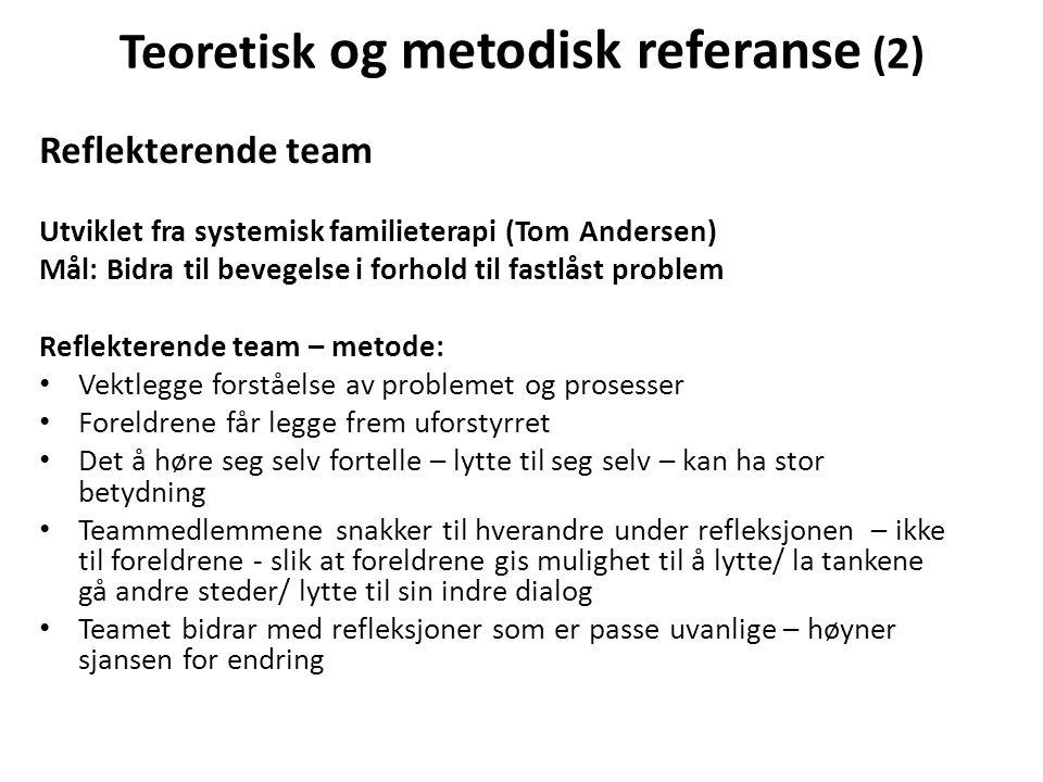 Teoretisk og metodisk referanse (2)