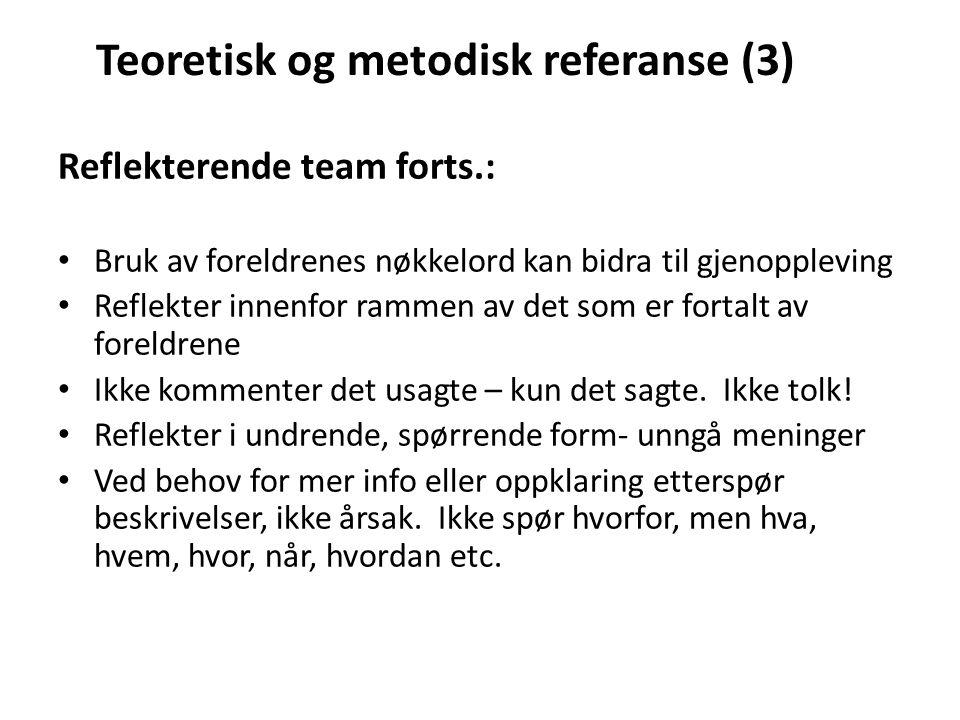 Teoretisk og metodisk referanse (3)