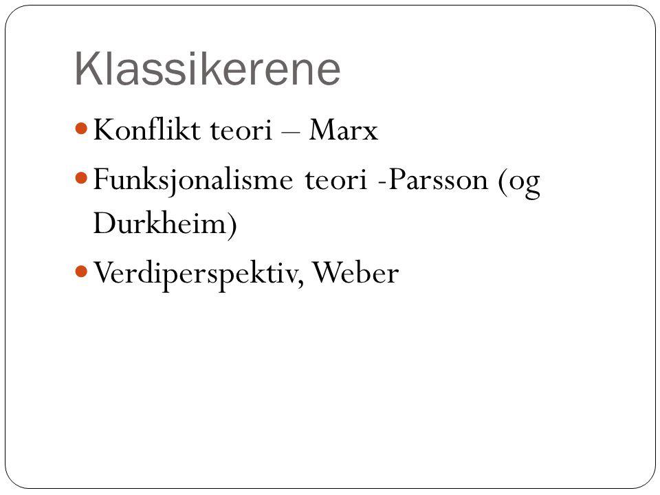 Klassikerene Konflikt teori – Marx