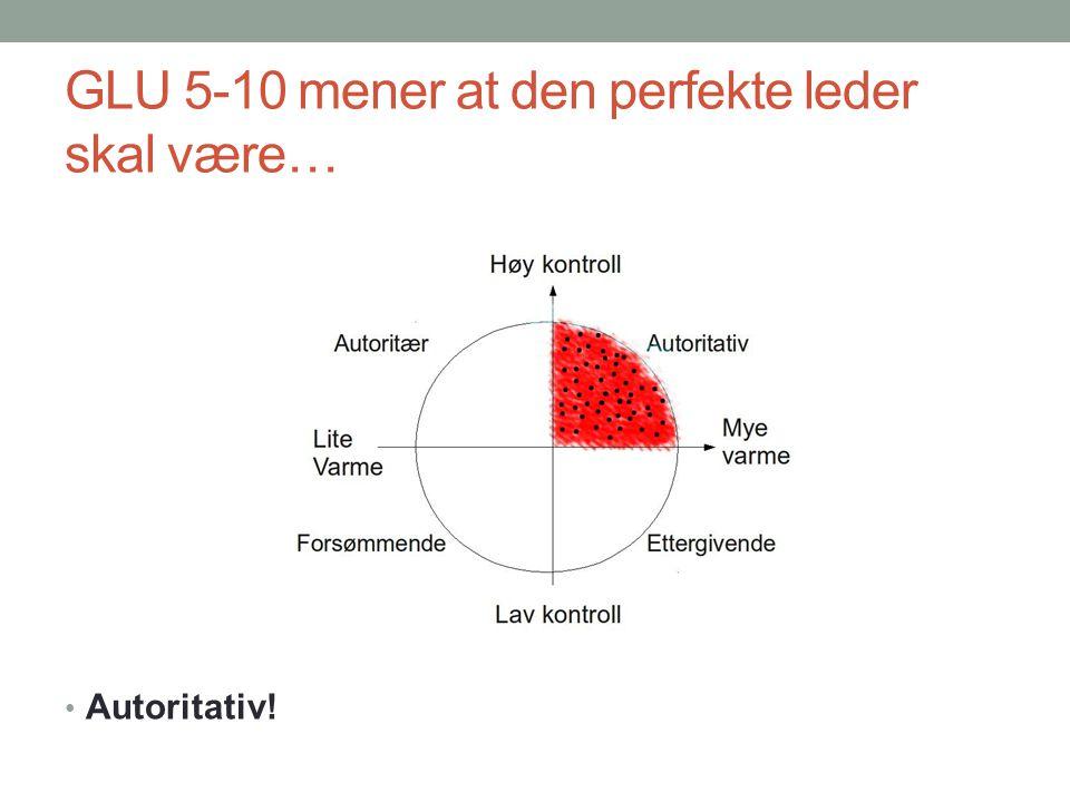 GLU 5-10 mener at den perfekte leder skal være…