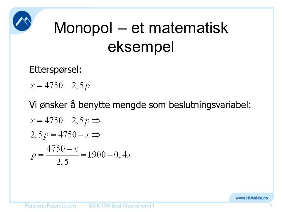 Monopol – et matematisk eksempel