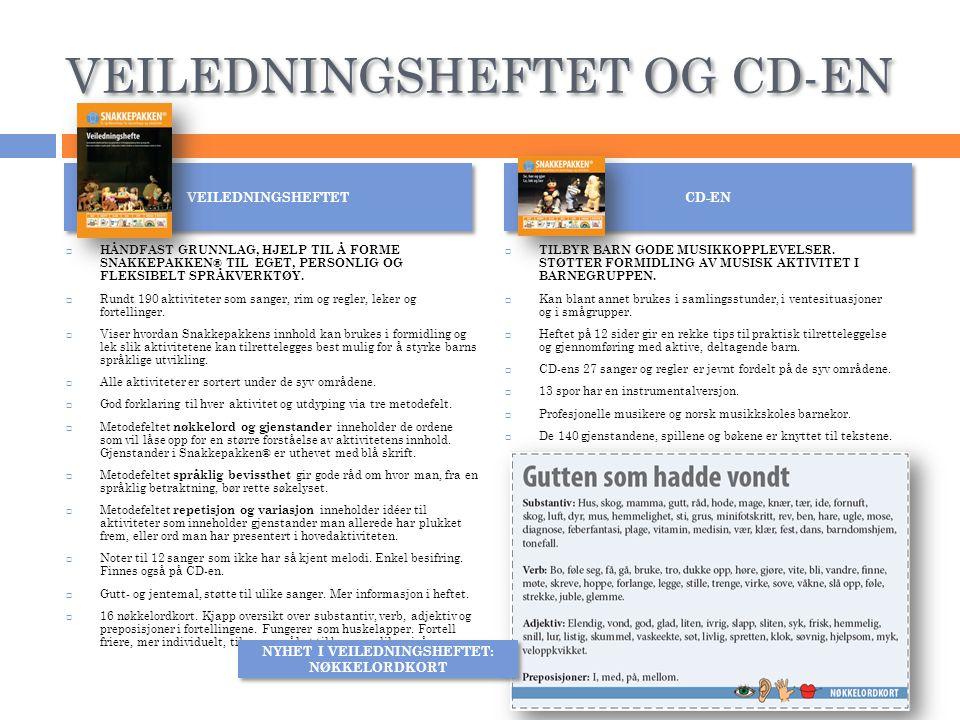 VEILEDNINGSHEFTET OG CD-EN