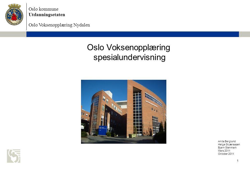 Oslo Voksenopplæring spesialundervisning