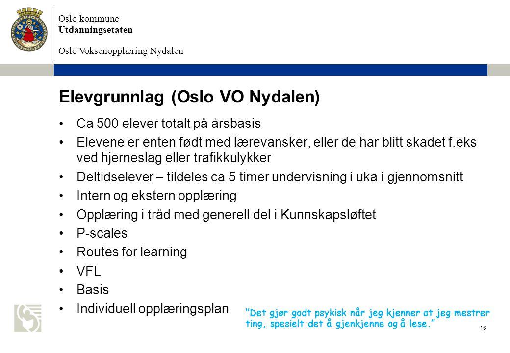 Elevgrunnlag (Oslo VO Nydalen)