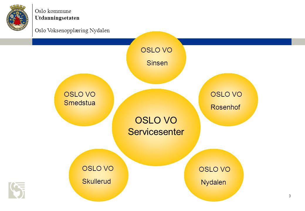OSLO VO Servicesenter OSLO VO Sinsen OSLO VO Smedstua OSLO VO Rosenhof