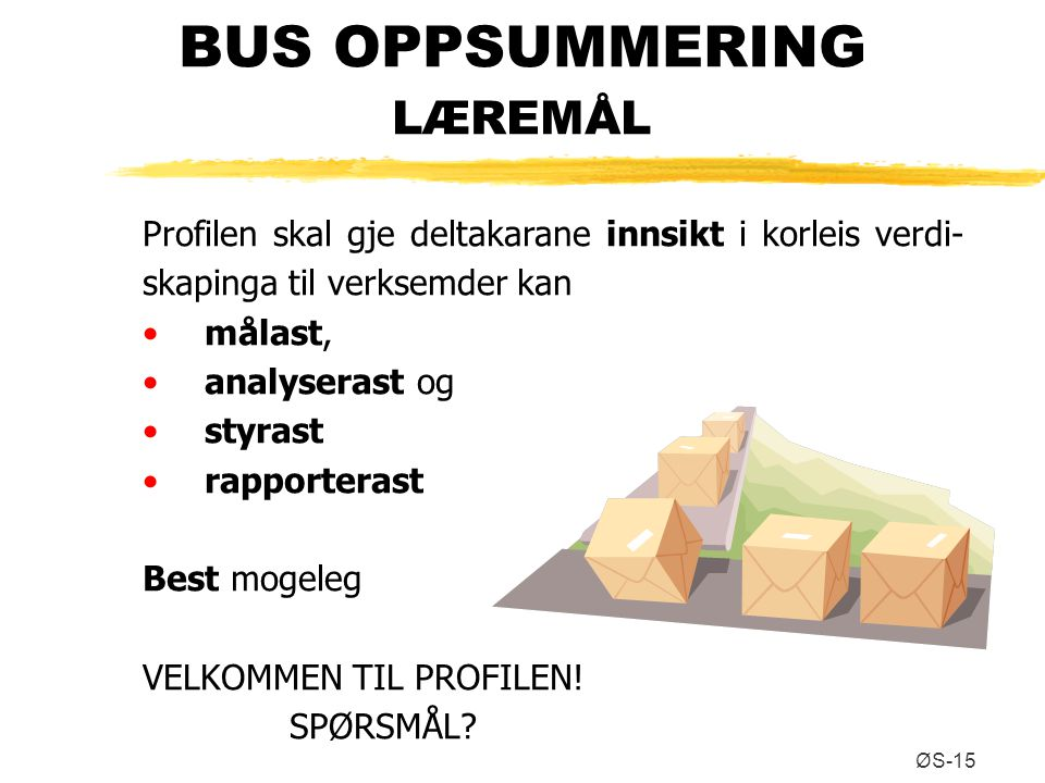 BUS OPPSUMMERING LÆREMÅL