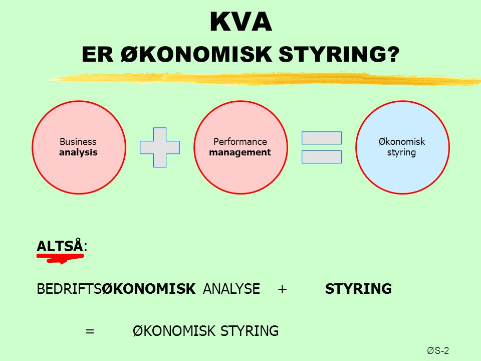 KVA ER ØKONOMISK STYRING