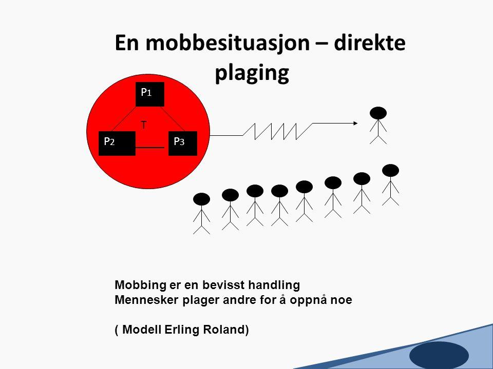 En mobbesituasjon – direkte plaging