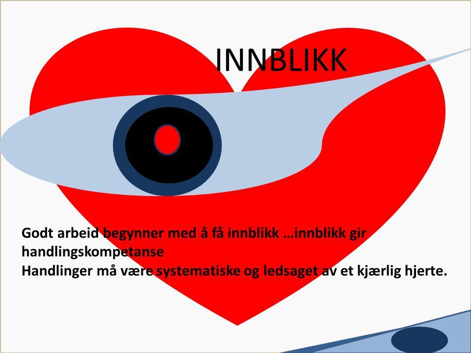 Utviklet av Tove Flack INNBLIKK. c. Godt arbeid begynner med å få innblikk …innblikk gir handlingskompetanse.