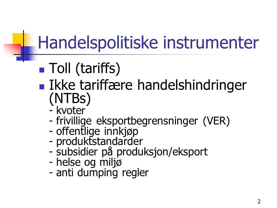 Handelspolitiske instrumenter