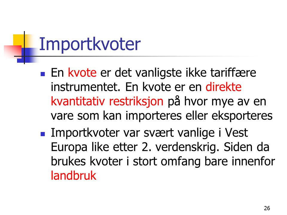 Importkvoter