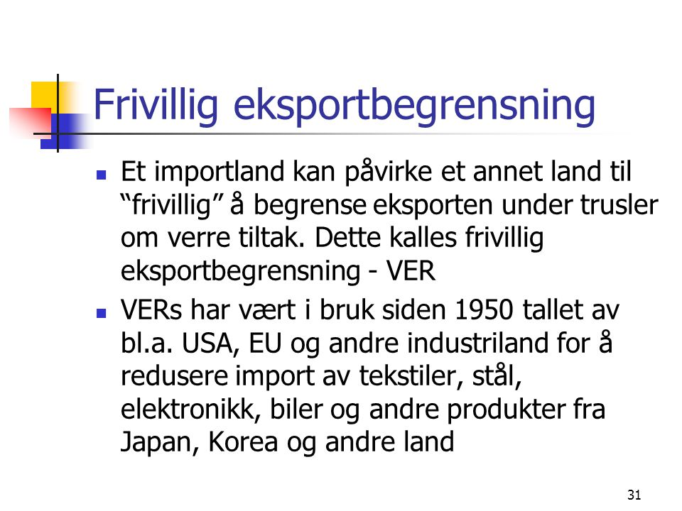 Frivillig eksportbegrensning
