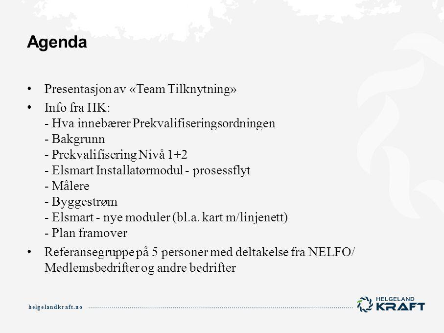 Agenda Presentasjon av «Team Tilknytning»