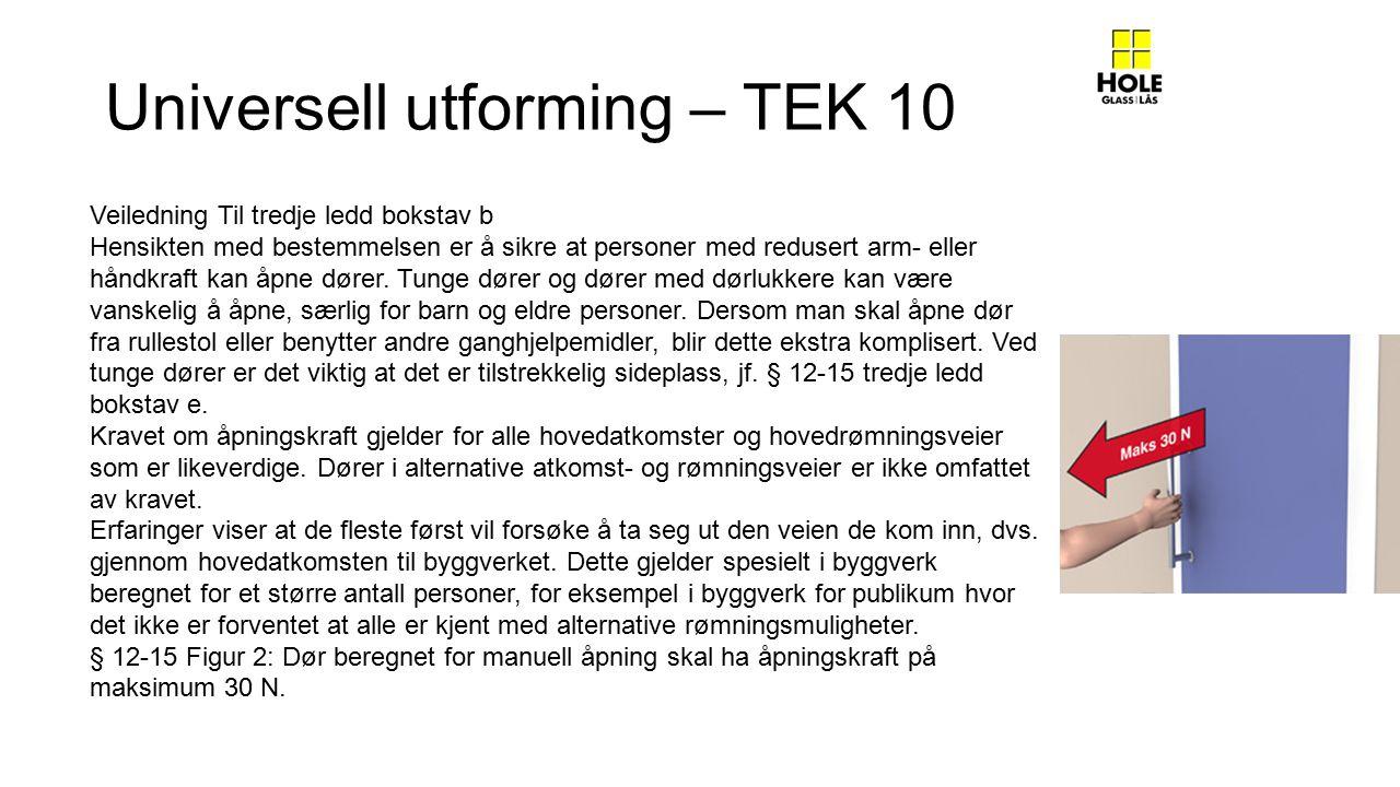 Universell utforming – TEK 10