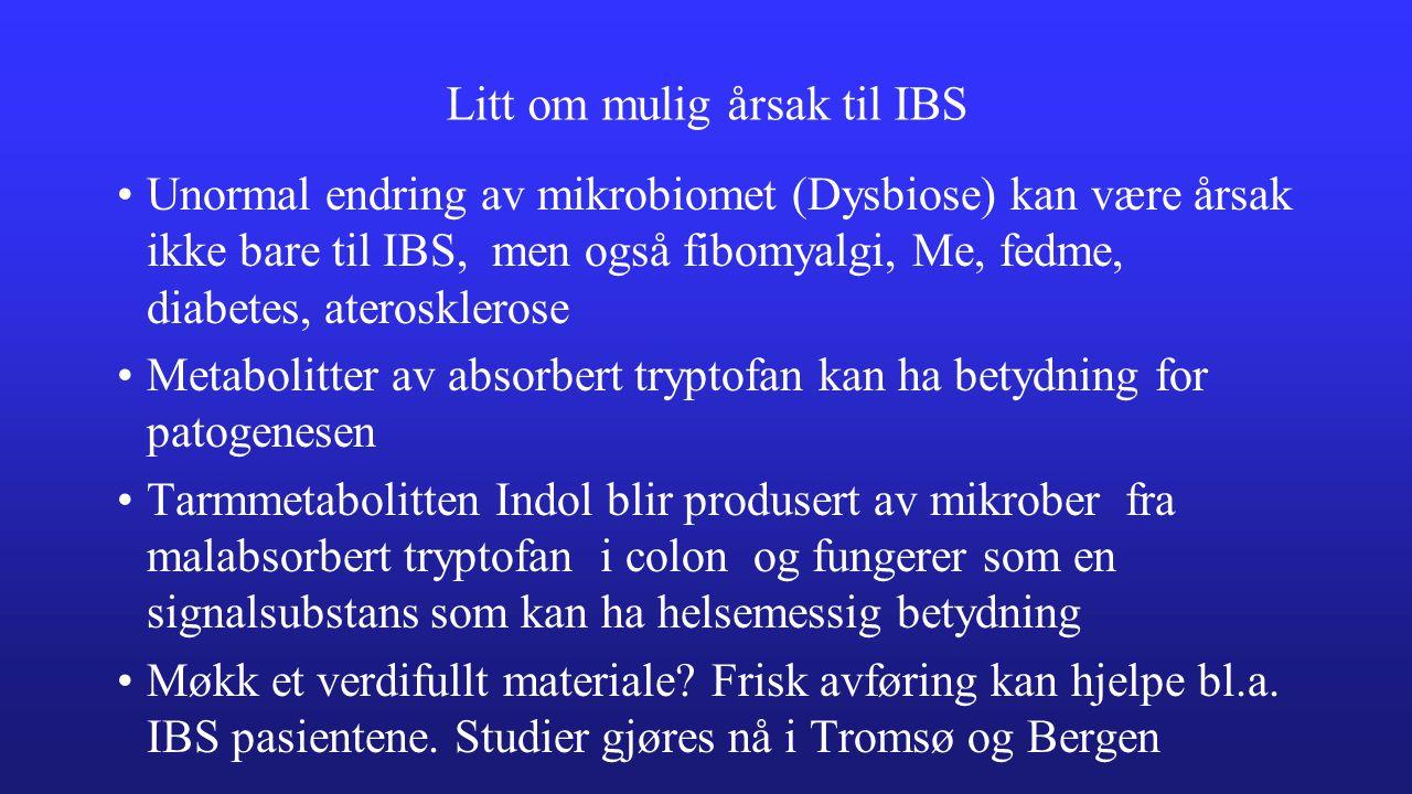 Litt om mulig årsak til IBS