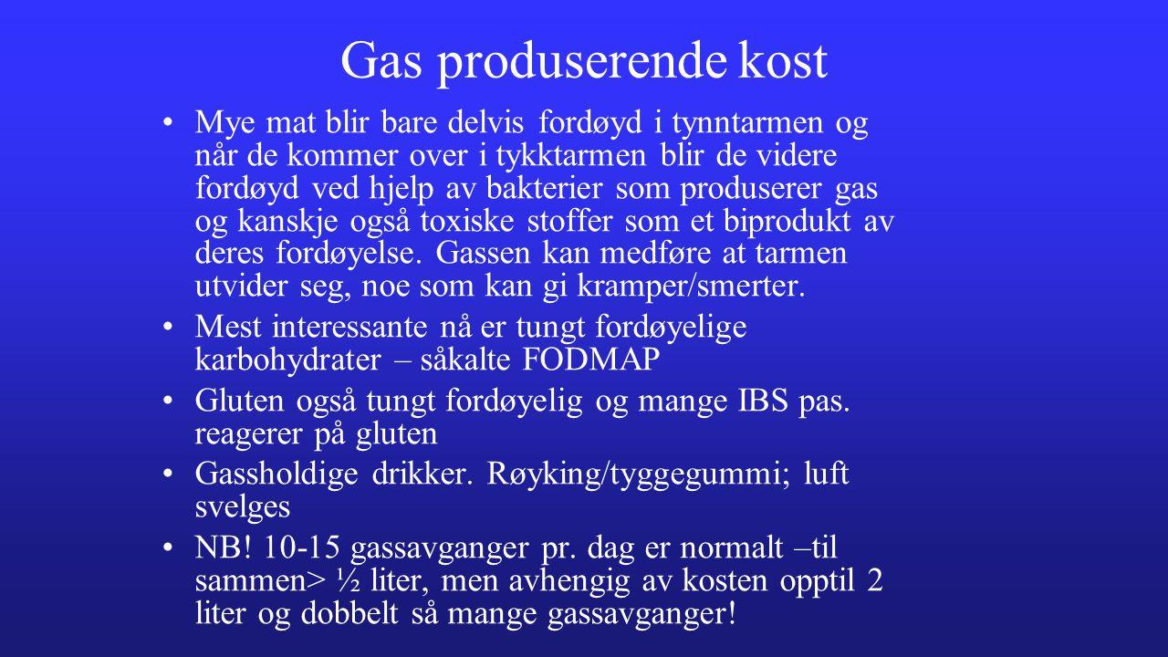 Gas produserende kost