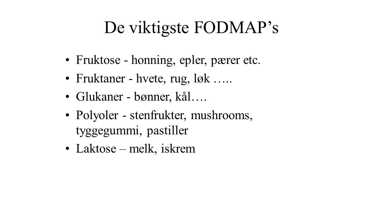 De viktigste FODMAP's Fruktose - honning, epler, pærer etc.