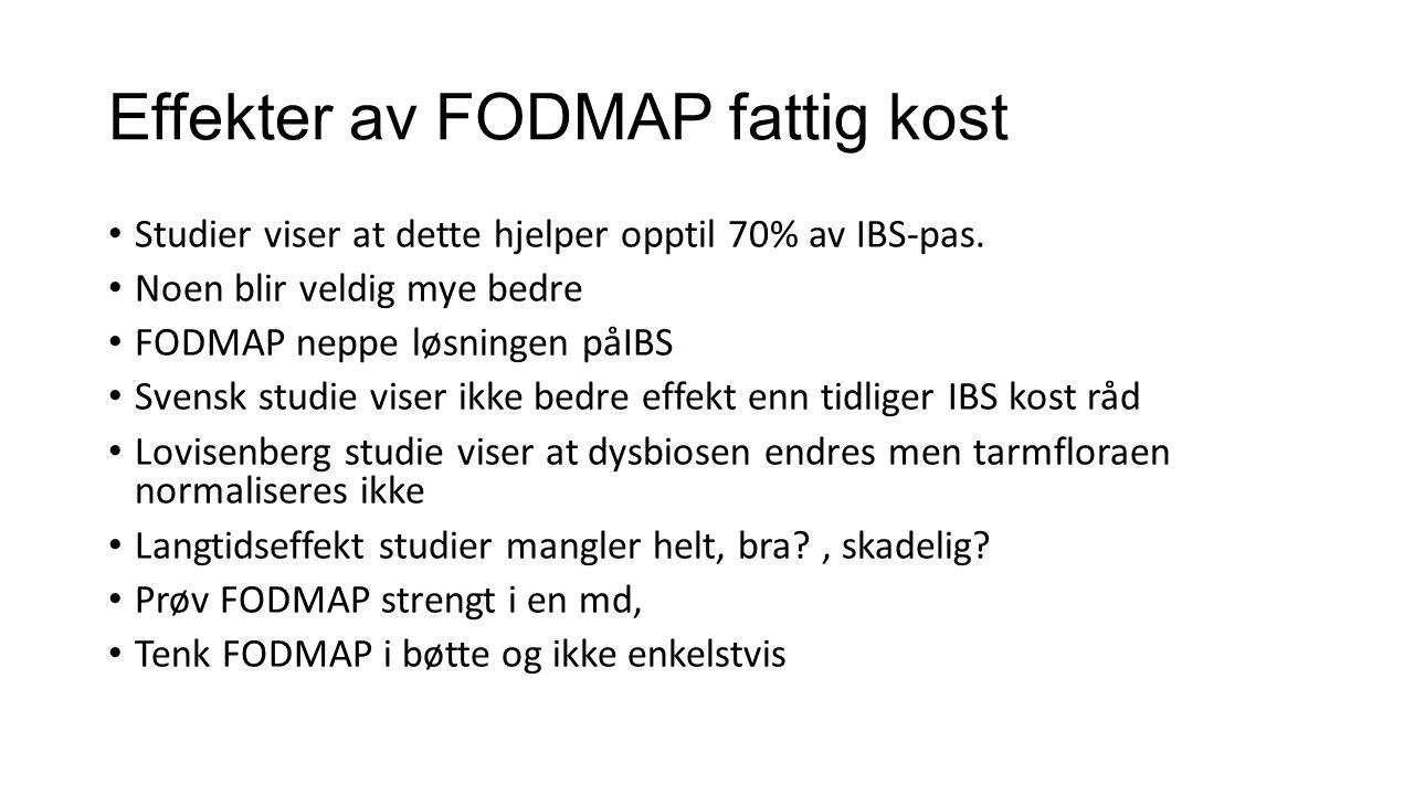Effekter av FODMAP fattig kost