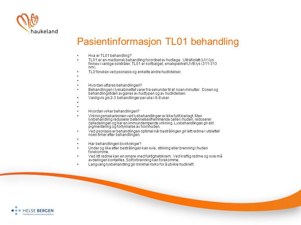 Pasientinformasjon TL01 behandling