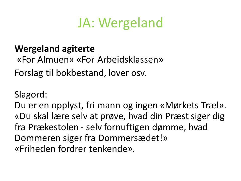 JA: Wergeland