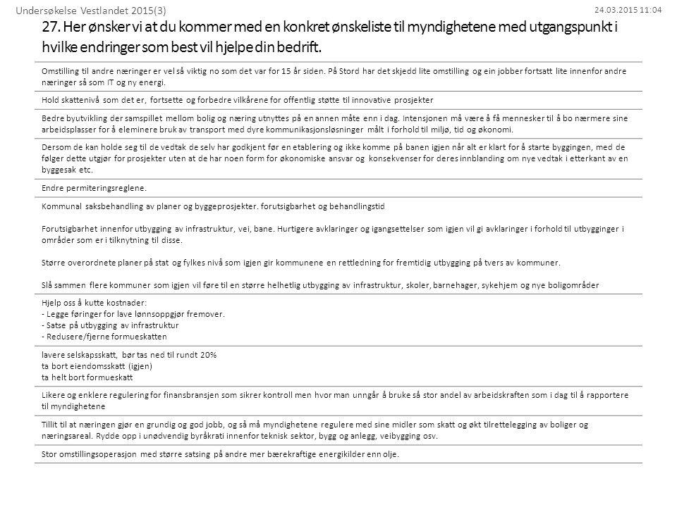 Undersøkelse Vestlandet 2015(3)