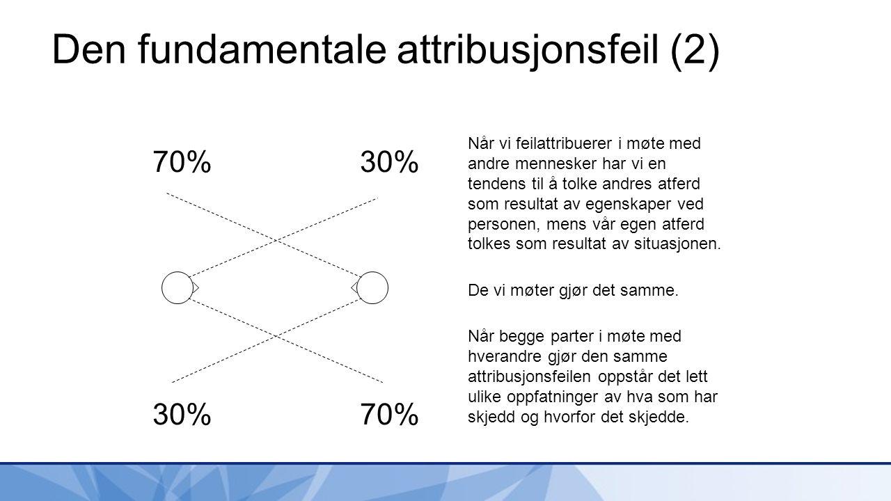 Den fundamentale attribusjonsfeil (2)